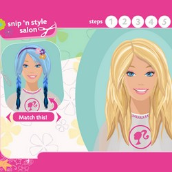 Choose A Hairstyle And Make It For Barbie, Or Make Your Own Style. This Is  A Professional Barbie Game!